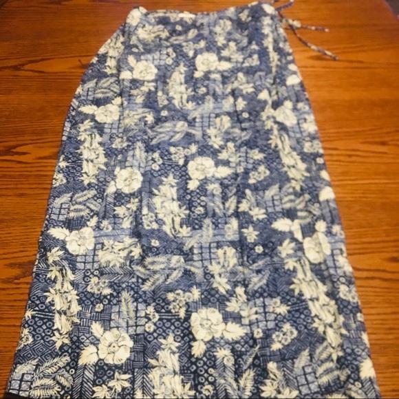 Evan Picone 100% Linen Wrap skirt size small B13